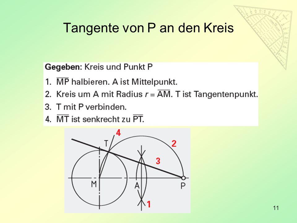 11 Tangente von P an den Kreis