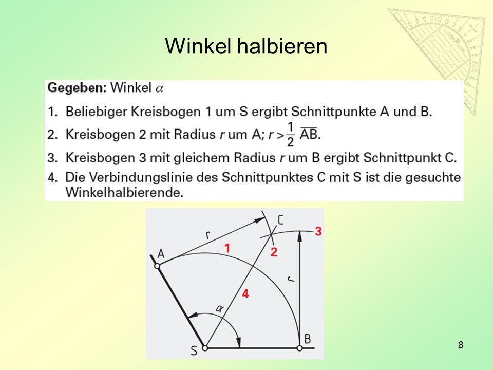 19 Ansichten von technischen Zeichnungen Projektionsmethode 1 Projektionsmethode 3 Vorderansicht Seitenansicht von links