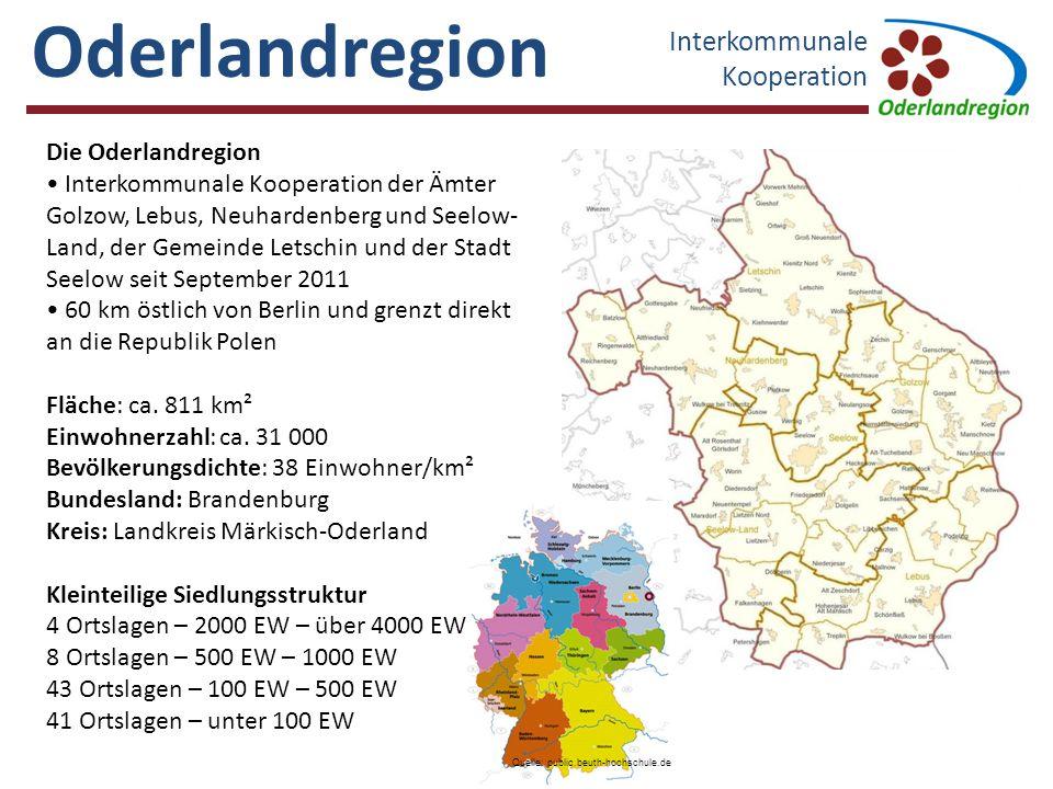 Oderlandregion Interkommunale Kooperation Müncheberg GolzowNeuhardenberg Lebus Seelow - Land Seelow Letschin 5 Min.