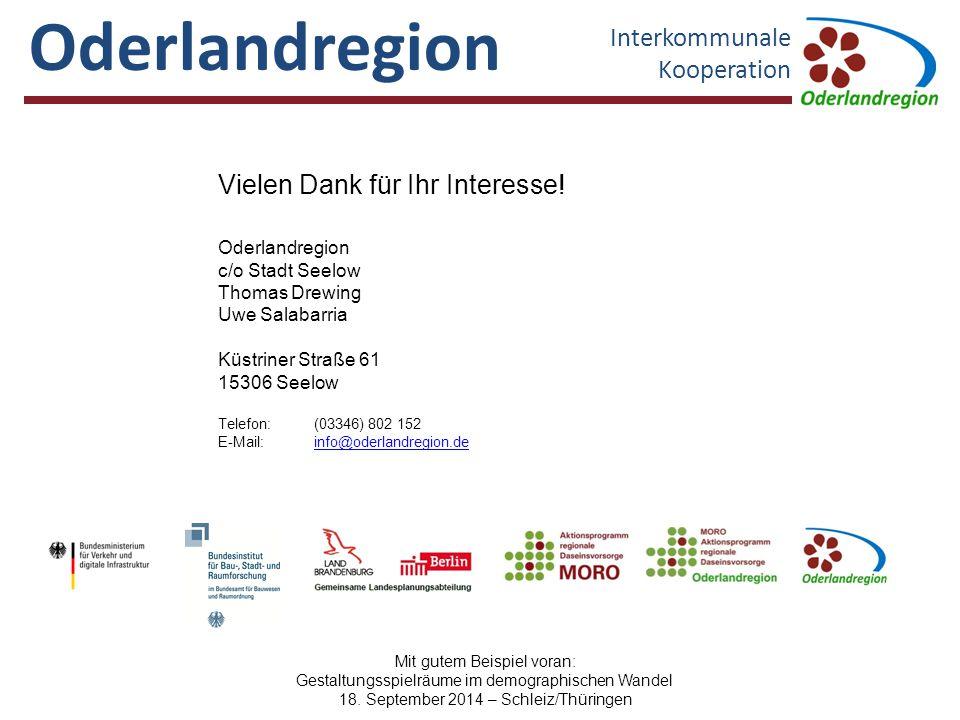 Oderlandregion Interkommunale Kooperation Oderlandregion c/o Stadt Seelow Thomas Drewing Uwe Salabarria Küstriner Straße 61 15306 Seelow Telefon:(0334