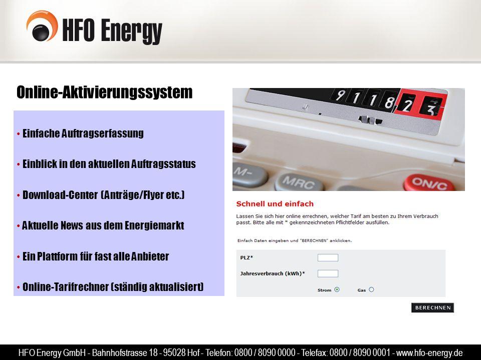 Online-Aktivierungssystem Einfache Auftragserfassung Einblick in den aktuellen Auftragsstatus Download-Center (Anträge/Flyer etc.) Aktuelle News aus d