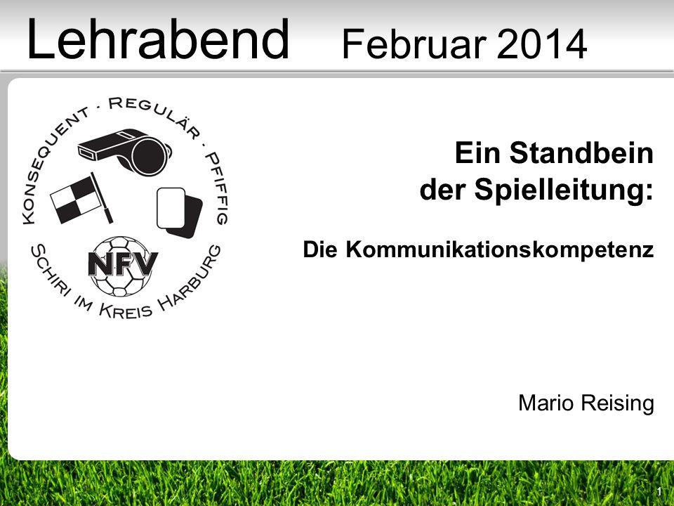 1 Ein Standbein der Spielleitung: Die Kommunikationskompetenz Mario Reising Lehrabend Februar 2014