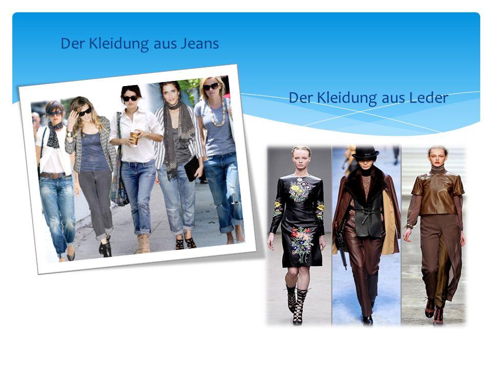 Der Kleidung aus Jeans Der Kleidung aus Leder