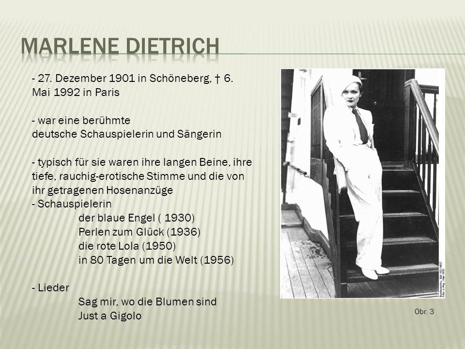 Obr. 3 - 27. Dezember 1901 in Schöneberg, † 6.