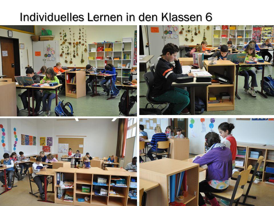 Individuelles Lernen in den Klassen 6 November 2012