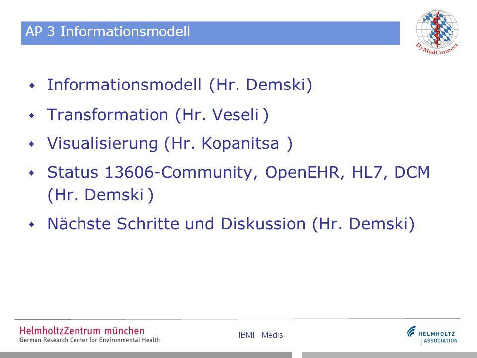 IBMI - Medis AP 3 Informationsmodell  Informationsmodell (Hr.