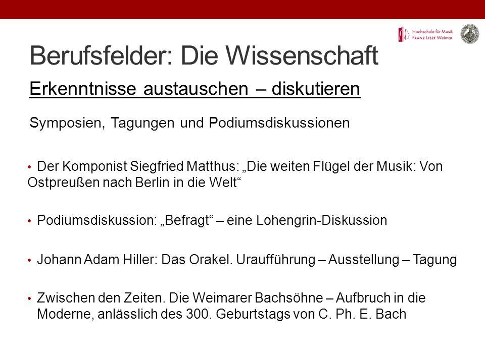 Berufsfelder: Die Wissenschaft Erkenntnisse austauschen – diskutieren Zwischen den Zeiten.