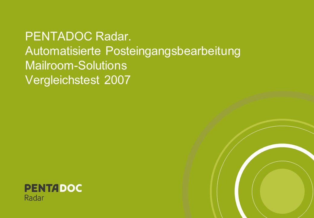 PENTADOC Radar – Präsentations-Vorlagen22 Analyse und übergreifende Auswertung – Gaa