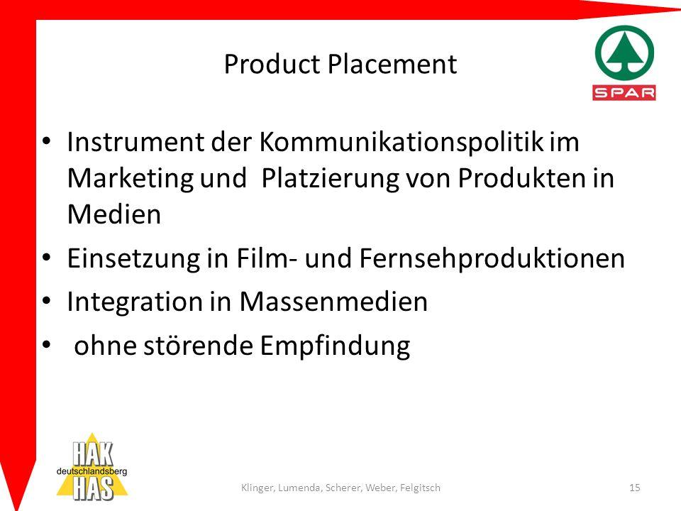 Product Placement Instrument der Kommunikationspolitik im Marketing und Platzierung von Produkten in Medien Einsetzung in Film- und Fernsehproduktione
