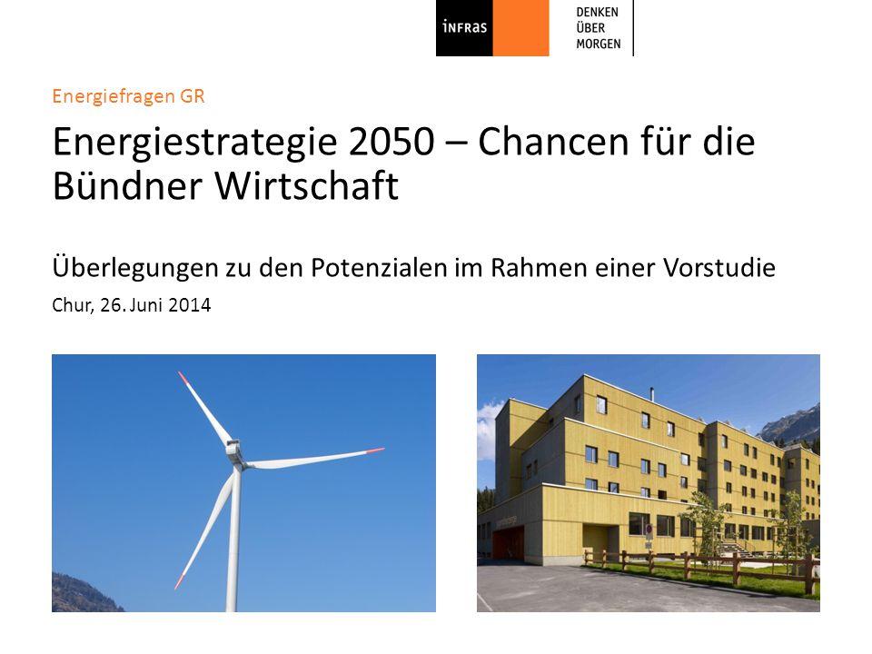 INFRAS Agenda | Energiestrategie − Chancen für die Bündner Wirtschaft | 26.