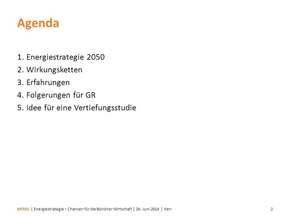 INFRAS| Energiestrategie − Chancen für die Bündner Wirtschaft | 26.