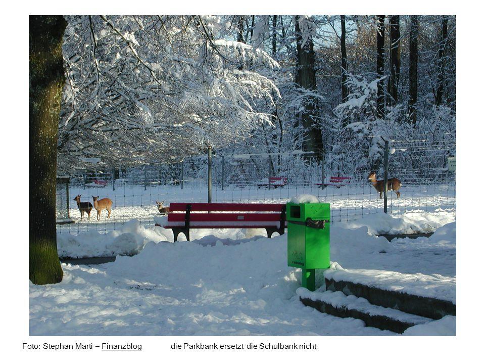 Foto: Stephan Marti – Finanzblog die Parkbank ersetzt die Schulbank nichtFinanzblog