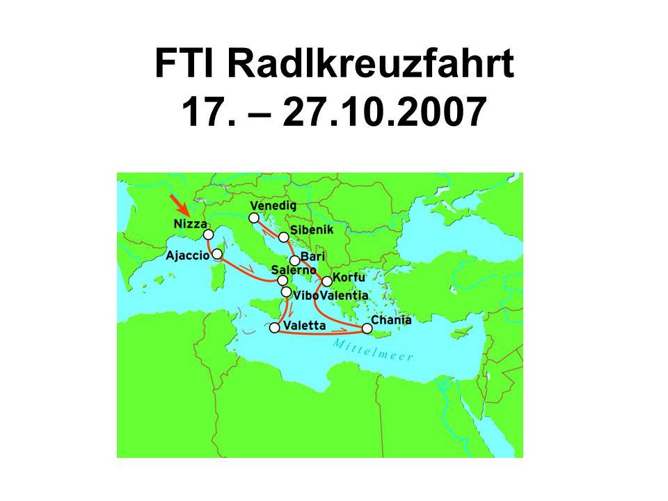 FTI Radlkreuzfahrt 17. – 27.10.2007
