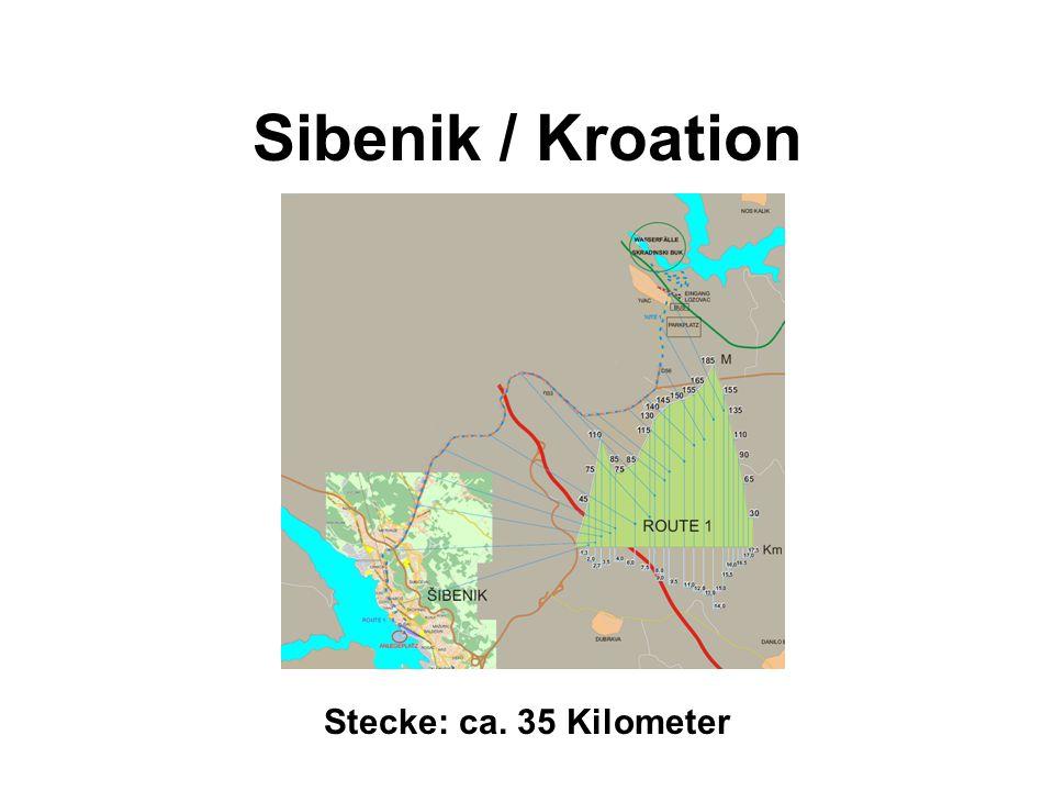 Sibenik / Kroation Stecke: ca. 35 Kilometer