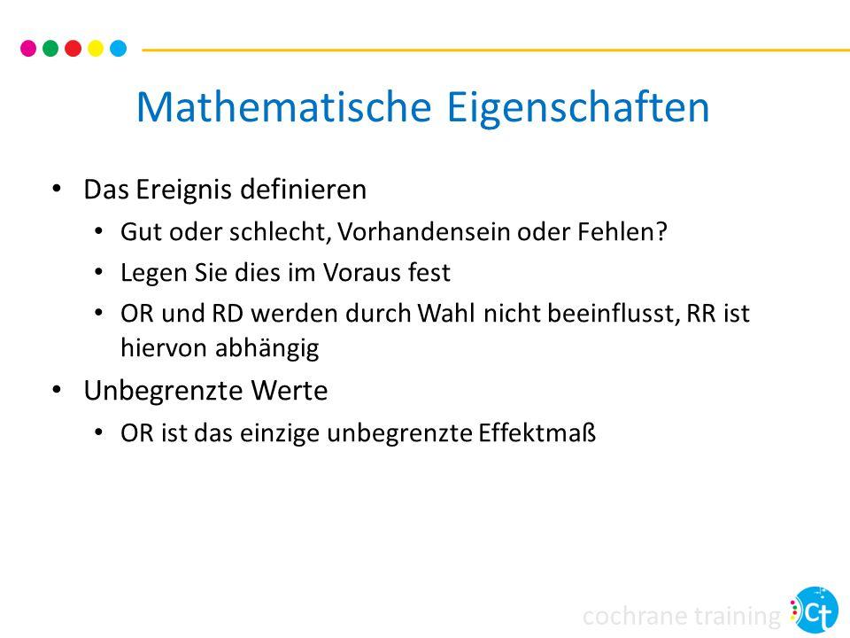 cochrane training Zusammenfassung ORRRRD Darstellung  Konsistenz  Mathematik 