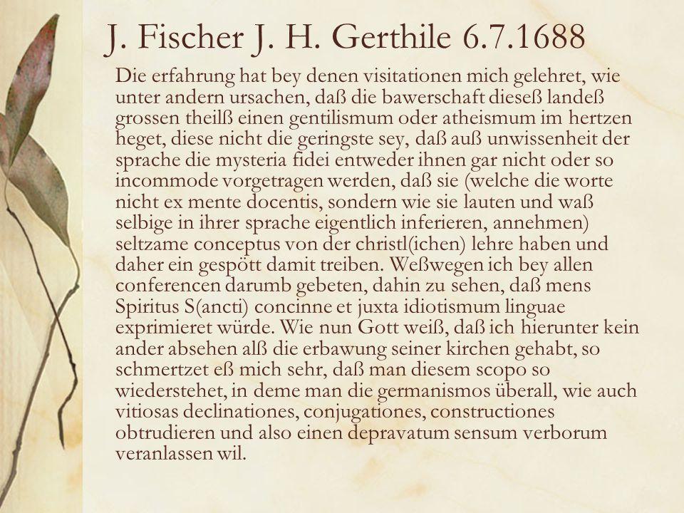 J. Fischer J. H.