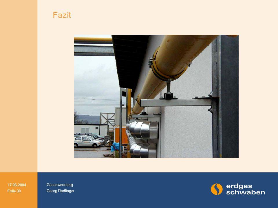Gasanwendung Georg Radlinger 17.06.2004 Folie 30 Fazit
