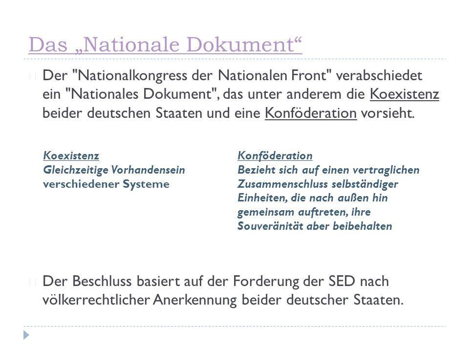 "Das ""Nationale Dokument"" ☞ Der"