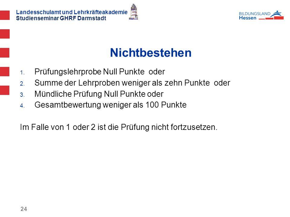 Landesschulamt und Lehrkräfteakademie Studienseminar GHRF Darmstadt 24 1.