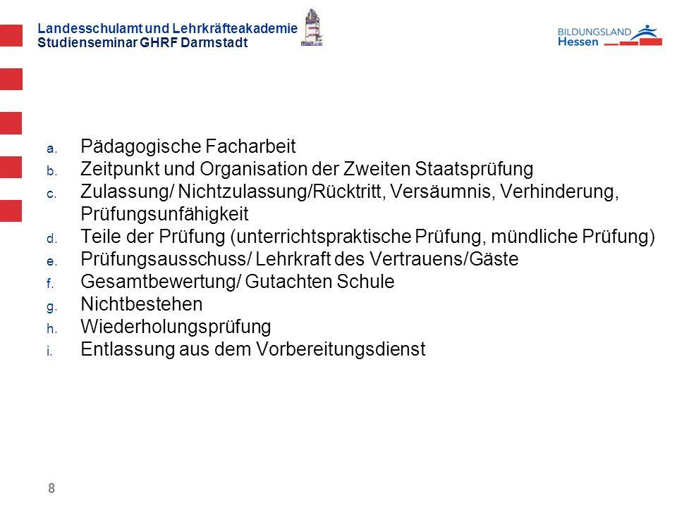 Landesschulamt und Lehrkräfteakademie Studienseminar GHRF Darmstadt a.