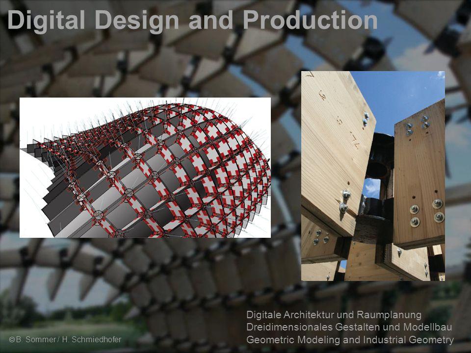 3 Digitale Architektur und Raumplanung Dreidimensionales Gestalten und Modellbau Geometric Modeling and Industrial Geometry Digital Design and Production  Dreidimensionales Gestalten und Modellbau