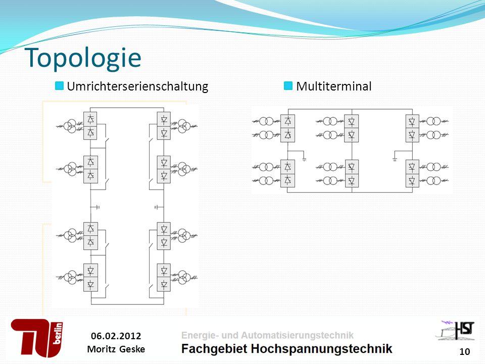 Topologie 06.02.2012 Moritz Geske 10 Multiterminal Umrichterserienschaltung