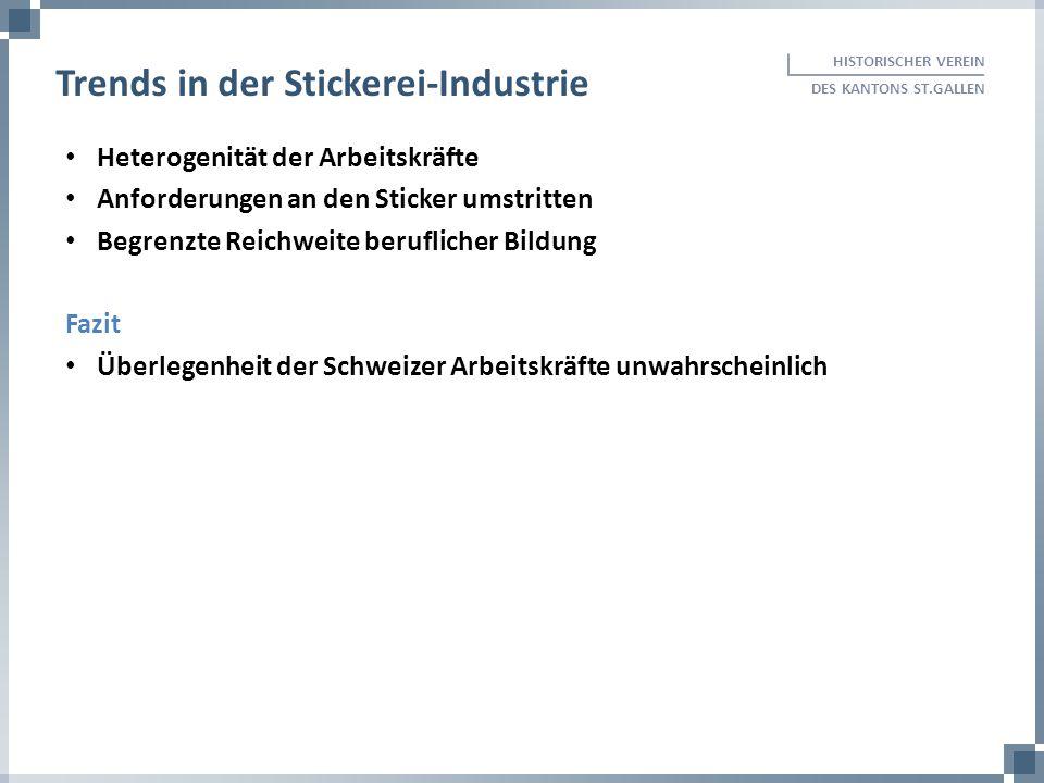 Heterogenität der Arbeitskräfte Anforderungen an den Sticker umstritten Begrenzte Reichweite beruflicher Bildung Fazit Überlegenheit der Schweizer Arb