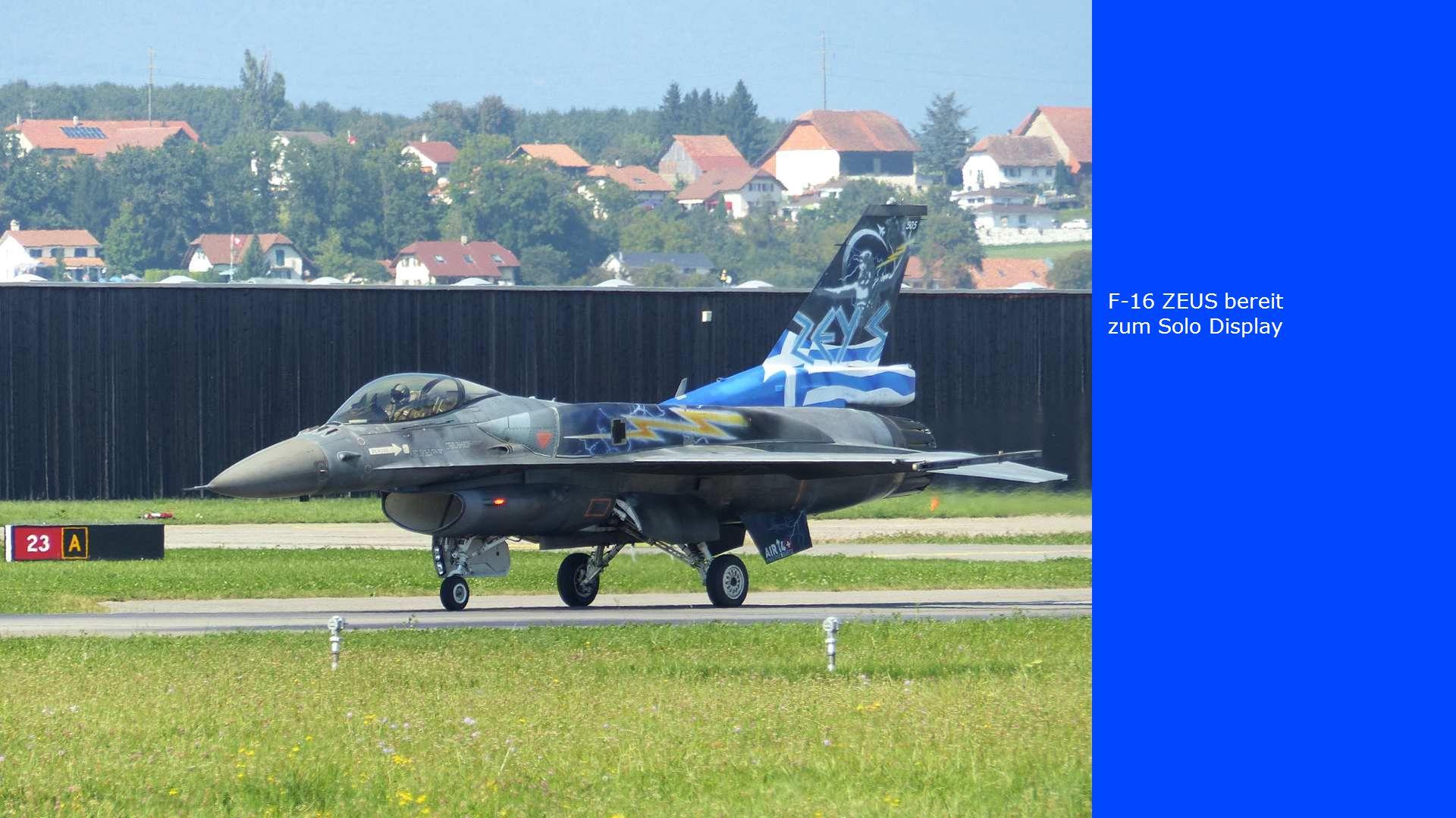 F-16 ZEUS bereit zum Solo Display