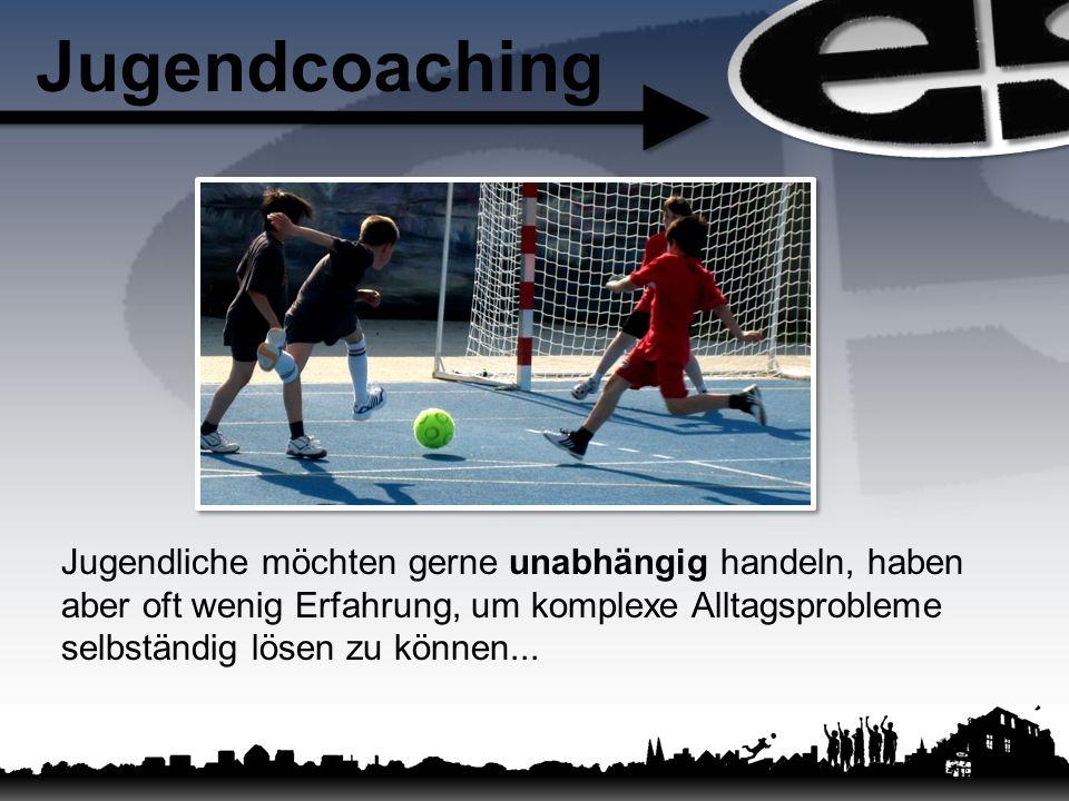 Jugendcoaching Jugendliche möchten gerne unabhängig handeln, haben aber oft wenig Erfahrung, um komplexe Alltagsprobleme selbständig lösen zu können..