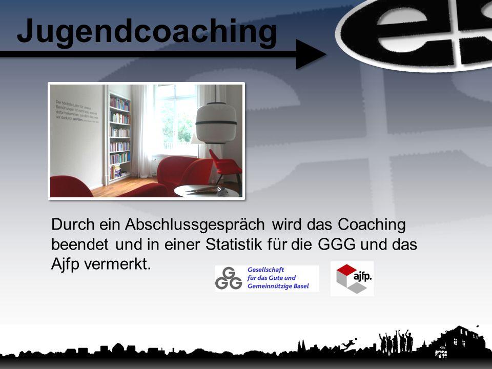 Jugendcoaching Durch ein Abschlussgespräch wird das Coaching beendet und in einer Statistik für die GGG und das Ajfp vermerkt.