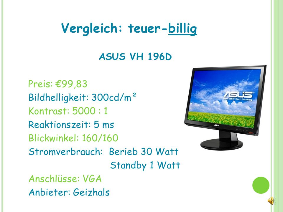 Die wichtigsten Hersteller Hewelett-Packard (HP) Dell Acer Samsung Sony Fujitsu Siemens Philips