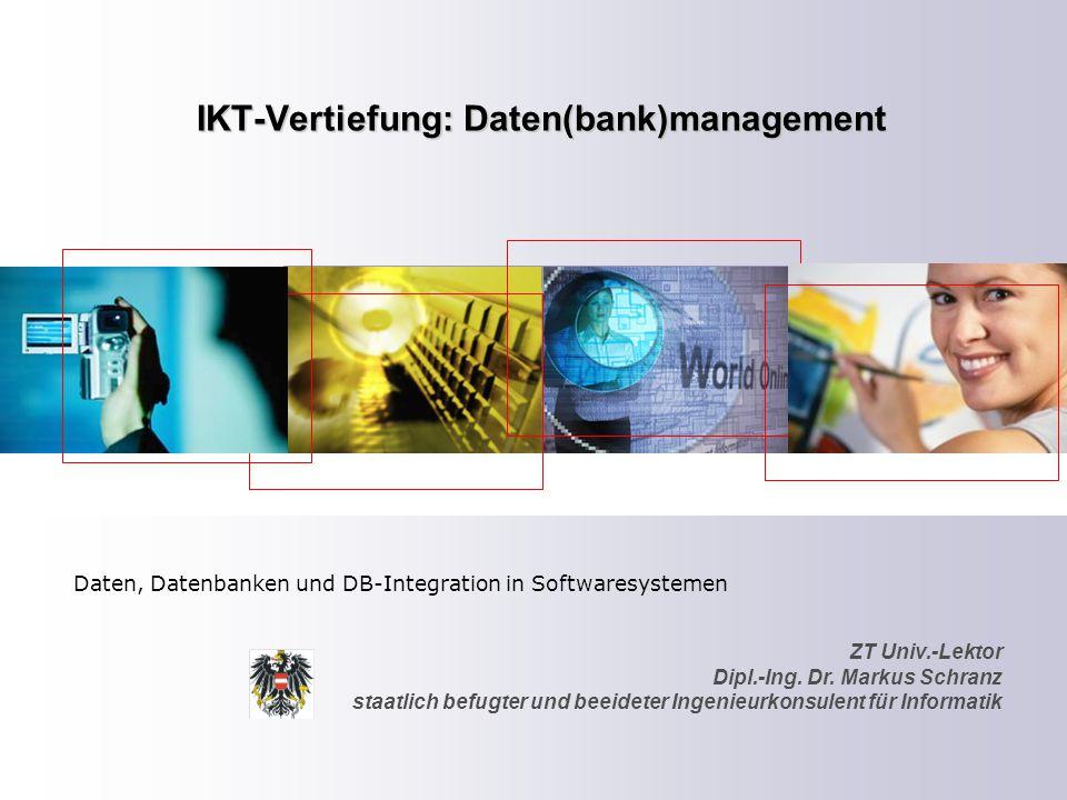 ZT Schranz Informationstechnologie KG 85 Einsatz der Datentypen – Skalare – Arrays – Hashes – References Einsatz von Datenbanken – MySQL – connections Einsatz von Persistenz – Cookies, Sessions,etc.