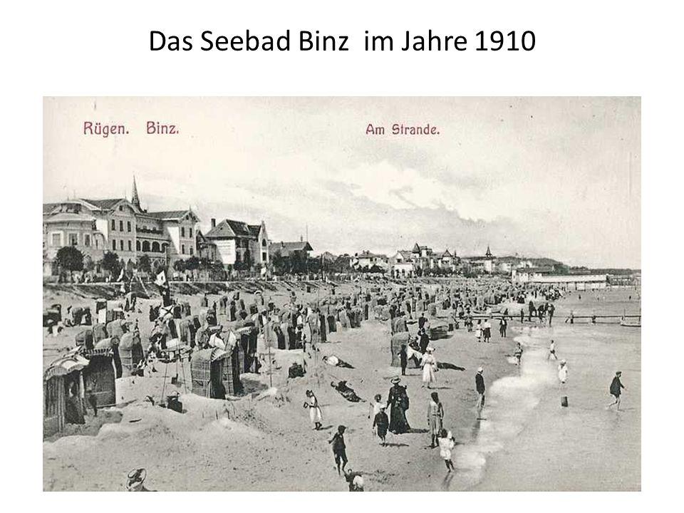 Das Seebad Binz im Jahre 1910