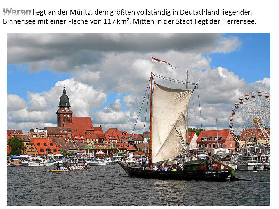 liegt an der Müritz, dem größten vollständig in Deutschland liegenden Binnensee mit einer Fläche von 117 km². Mitten in der Stadt liegt der Herrensee.