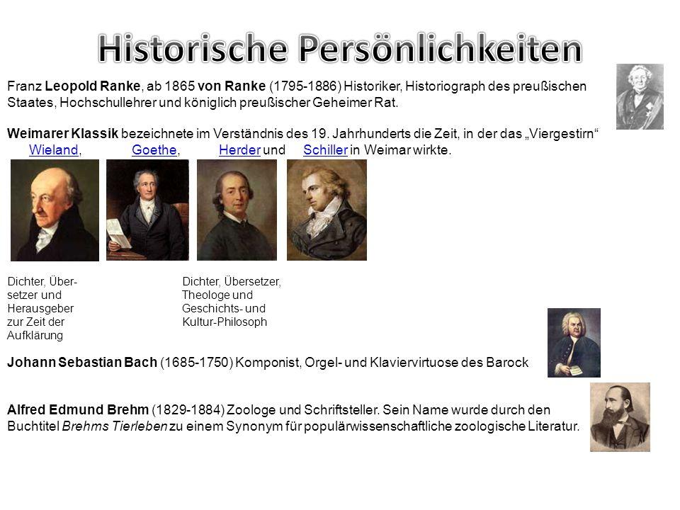 Franz Leopold Ranke, ab 1865 von Ranke (1795-1886) Historiker, Historiograph des preußischen Staates, Hochschullehrer und königlich preußischer Geheim