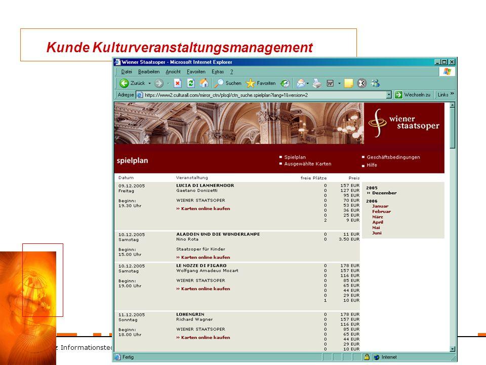 ZT Schranz Informationstechnologie KEG 9 Kunde Kulturveranstaltungsmanagement