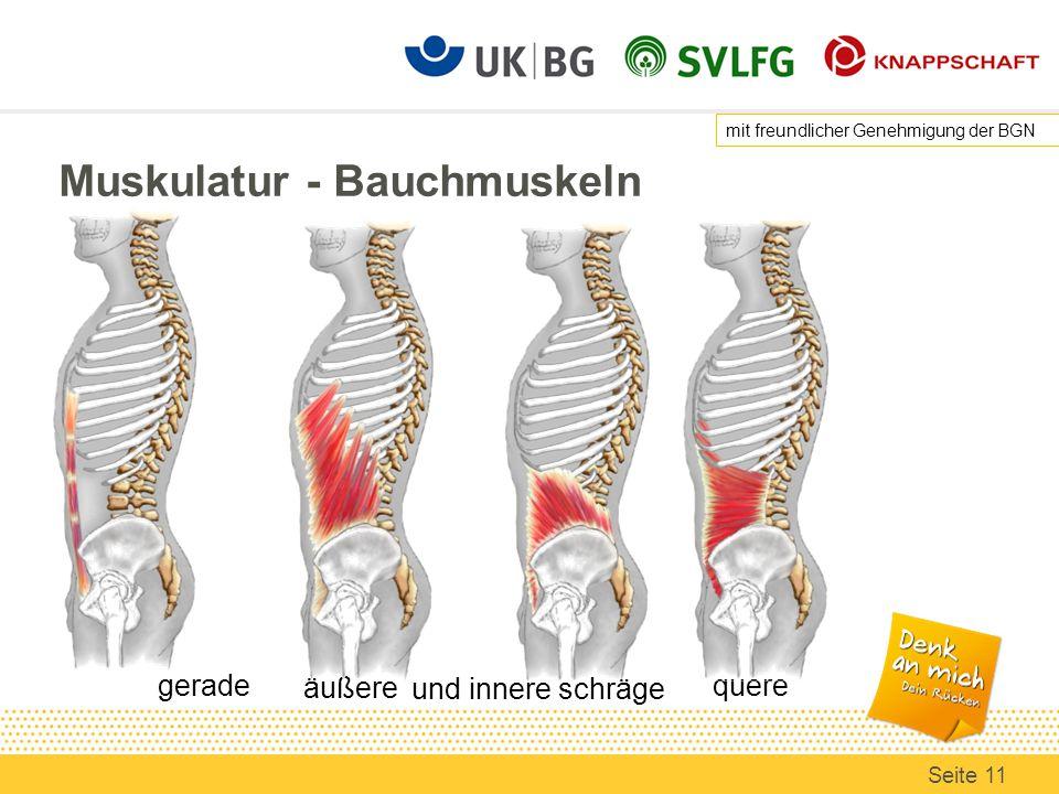 Muskulatur - Bauchmuskeln gerade quere äußere und innere schräge mit freundlicher Genehmigung der BGN Seite 11