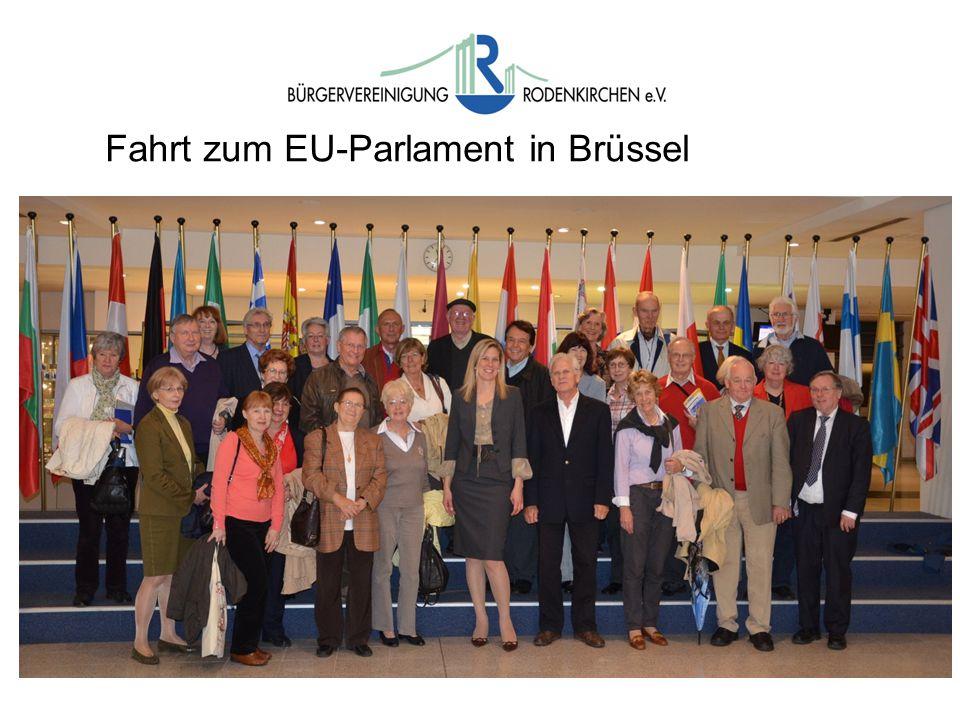 Fahrt zum EU-Parlament in Brüssel