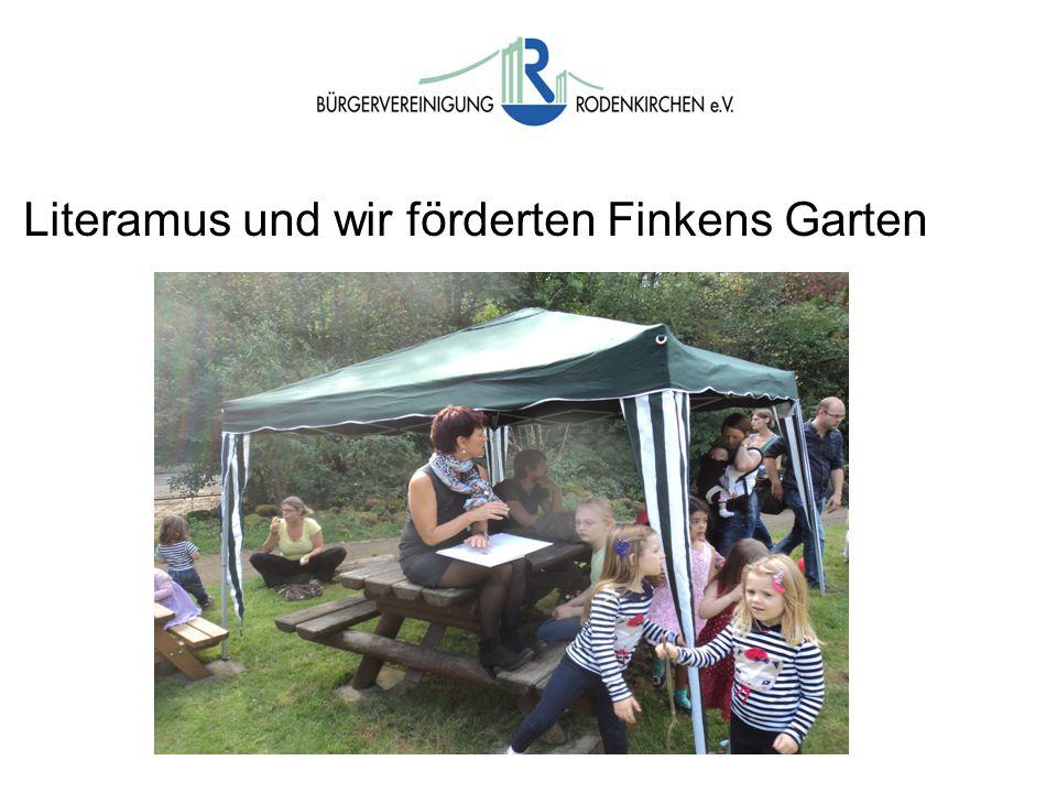 Wahlen Literamus und wir förderten Finkens Garten