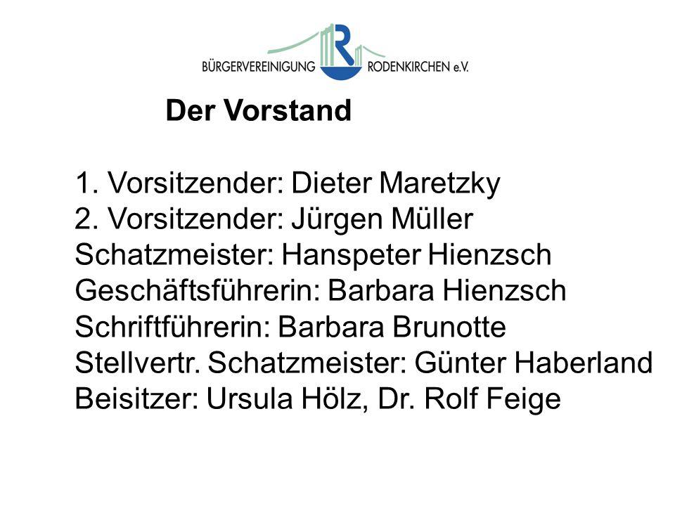 Der Vorstand 1. Vorsitzender: Dieter Maretzky 2.