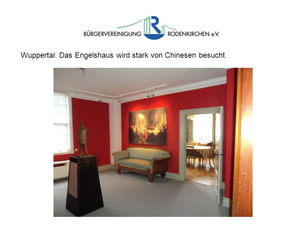 Wuppertal: Das Engelshaus wird stark von Chinesen besucht