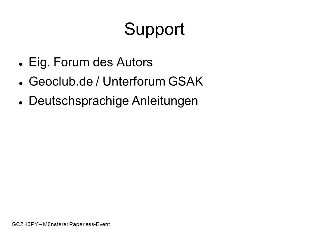 GC2H6PY – Münsterer Paperless-Event Support Eig.