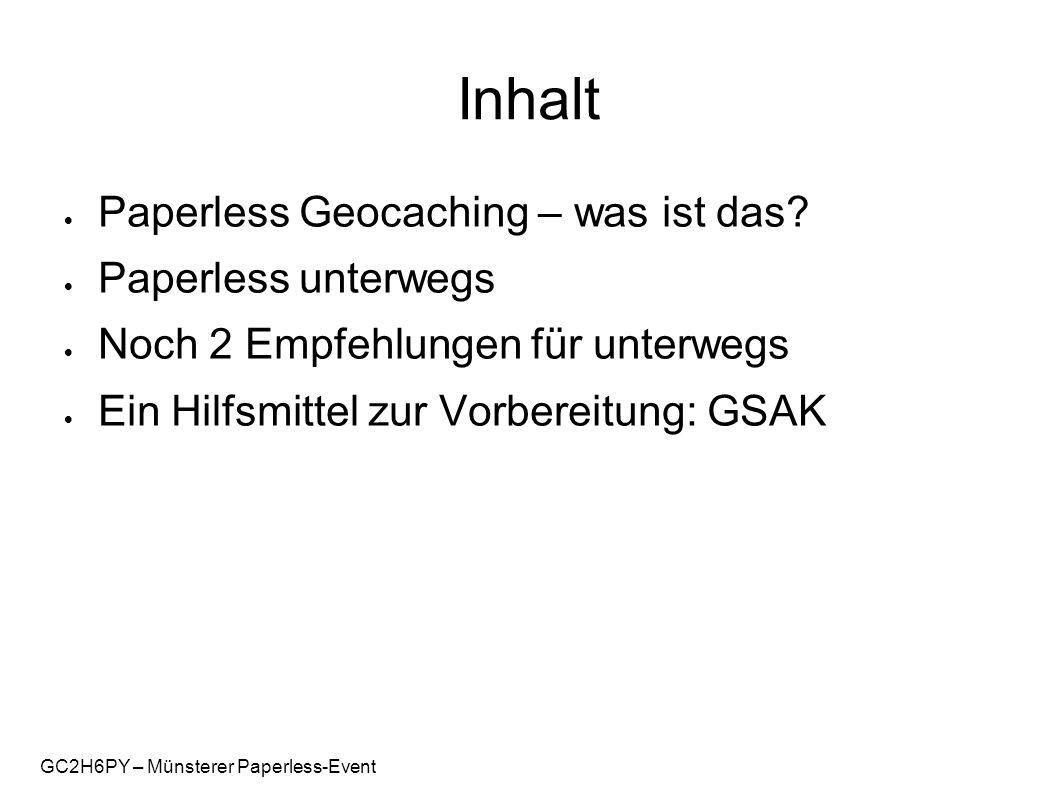 GC2H6PY – Münsterer Paperless-Event Paperless?!?