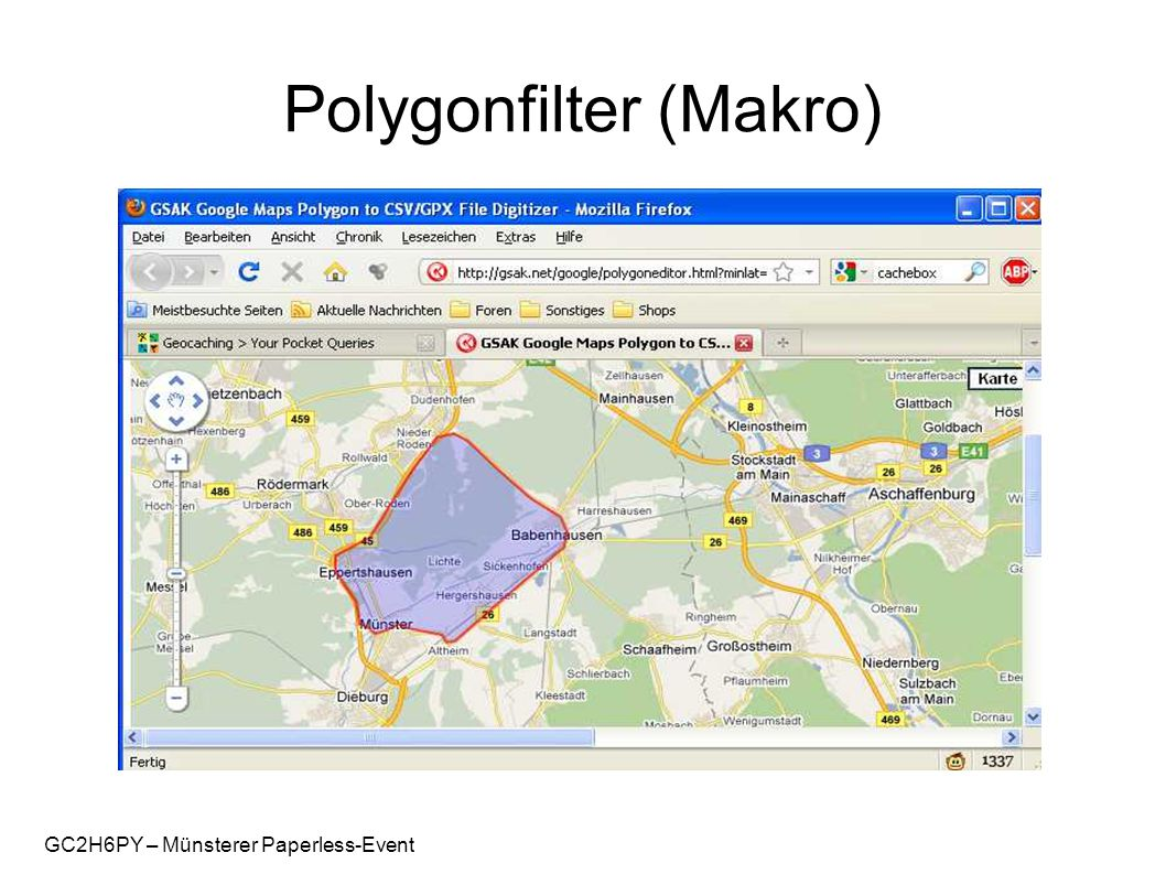 GC2H6PY – Münsterer Paperless-Event Polygonfilter (Makro)