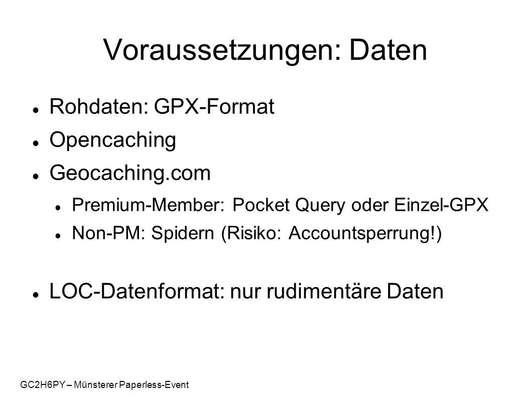 GC2H6PY – Münsterer Paperless-Event Voraussetzungen: Hard- u.