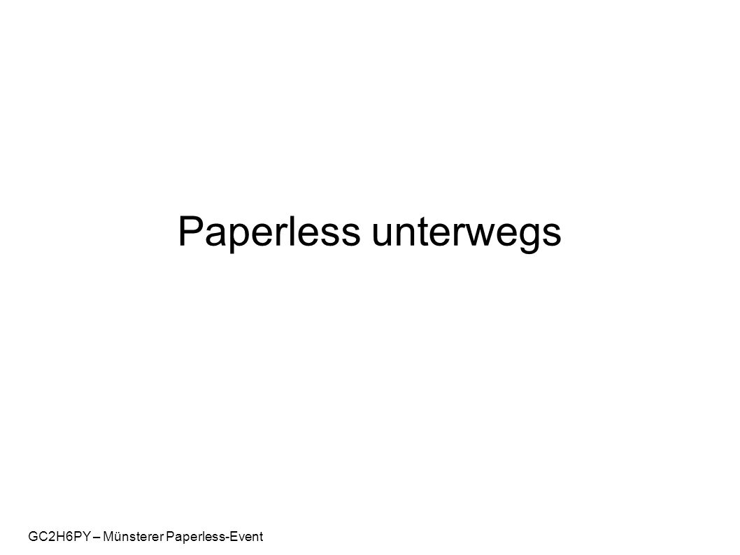 GC2H6PY – Münsterer Paperless-Event Paperless unterwegs