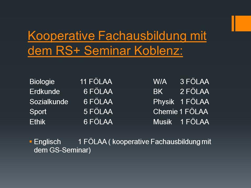 Neuer Ausbildungskurs Stand 04.07.2014  Insgesamt 63 FÖLAA  Förderschwerpunkte: -L 41 -G25 -SE 22 -M20 An Schwerpunktschulen: - SPR 1718 FÖLAA an SP
