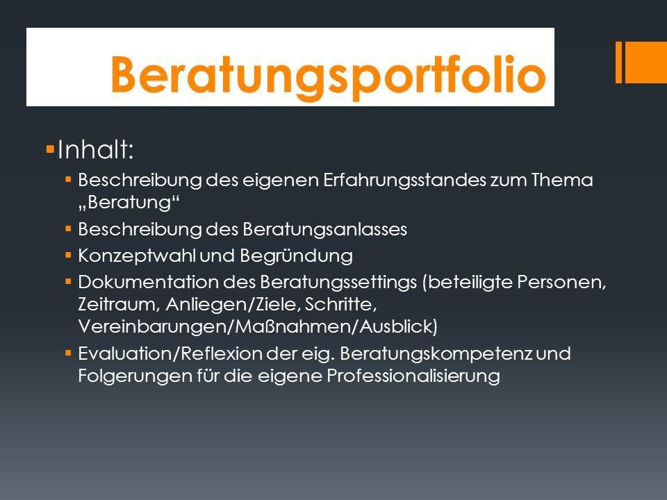 Aufgaben der FÖLAA im Vorbereitungsdienst  Präsentation der berufsspezifischen Ausgangslage (s. gesonderte Präsentation gleichen Namens)  Erstellung