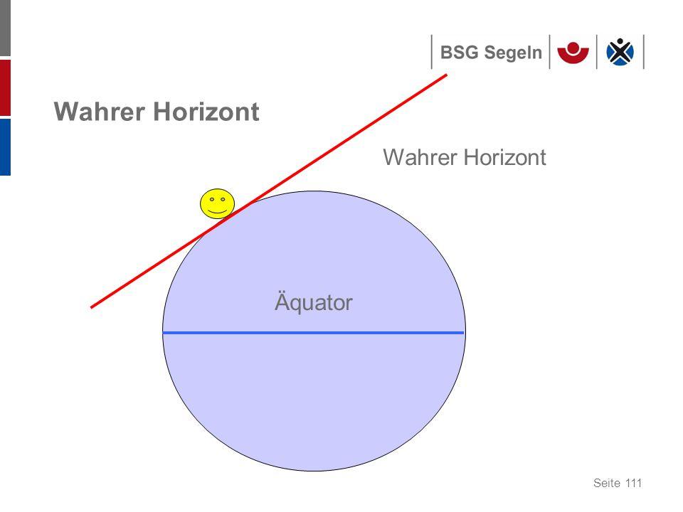 Seite 111 Wahrer Horizont Äquator