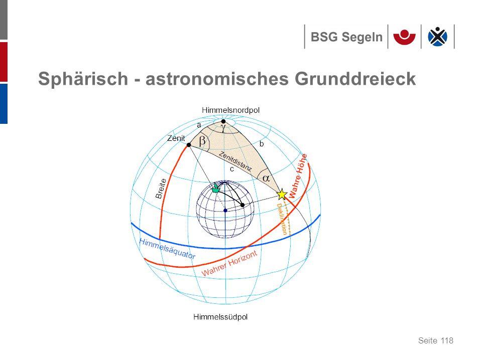 Seite 118 Sphärisch - astronomisches Grunddreieck
